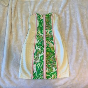 Strapless Embossed Lilly Pulitzer Dress